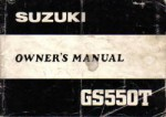 1981 Suzuki GS550T Owners Manual