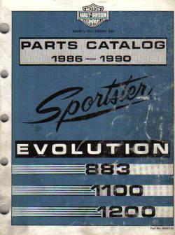 Official 1986-1990 Harley-Davidson XLH Parts Manual