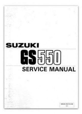 Used 1984-1986 Suzuki GS550 Motorcycles Factory Service Manual