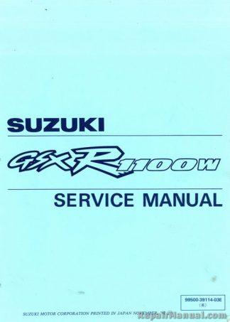 Used 1993-1997 Suzuki GSX-R1100W Motorcycle Factory Service Manual