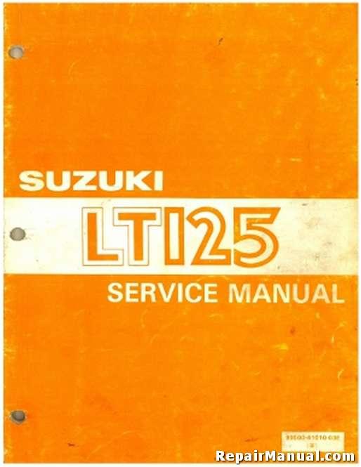 used 1983 1987 suzuki lt125 quadrunner atv service manual rh repairmanual com 1985 Suzuki Quadrunner Parts suzuki lt 125 repair manual free