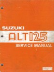 Used Official 1983-1986 Suzuki ALT125 Factory Service Manual