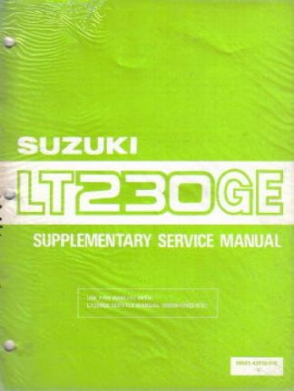 Used Suzuki Factory Supplement Service Manual