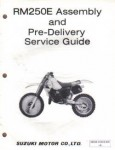 Used Official Suzuki RM250 Motorcycle Assembly Preparation Manual