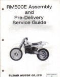 Suzuki RM500 Motorcycle Assembly Preparation Manual