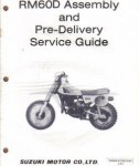 Used Official Suzuki RM60 Motorcycle Assembly Preparation Manual