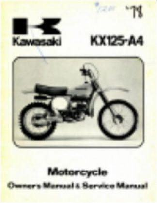 Used 1978 Kawasaki KX125A4 Service Manual