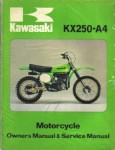 Used Official 1974 Kawasaki KX250 A4 Factory Owners and Service Manual