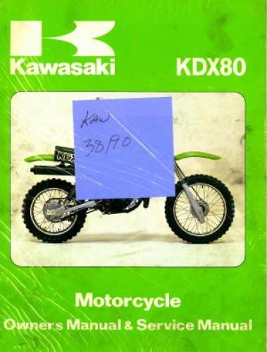 used 1980 kawasaki kdx80 motorcycle owners service manual. Black Bedroom Furniture Sets. Home Design Ideas