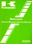 Used Official 1982 Kawasaki KX250 Owners Service Manual