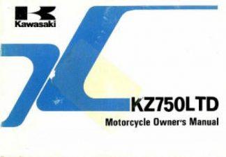 1983 Kawasaki KZ750F1 LTD Shaft Drive Owners Manual