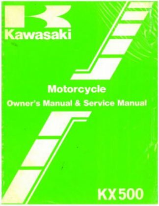 Used Official 1984 Kawasaki KX500 Owners Service Manual