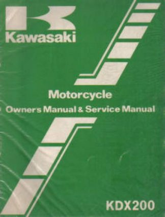Used Kawasaki KDX200-A2 1984 Factory Owners Service Manual