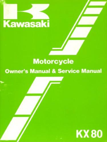 Used 1985 Kawasaki KX80 Motorcycle Owners Service Manual Kawasaki Kx Wiring Diagram on
