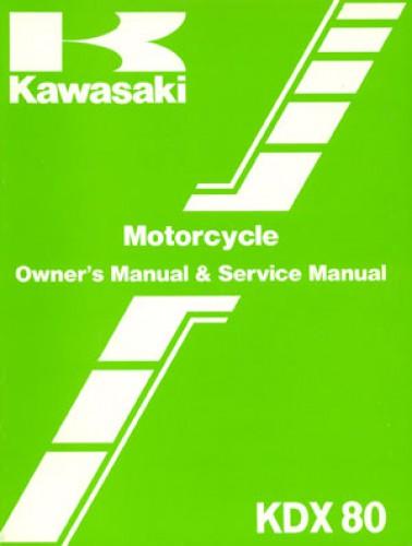 used 1986 kawasaki kdx80 motorcycle owners service manual