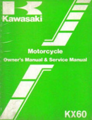 Used Official 1986 Kawasaki KX60B2 Owners Service Manual