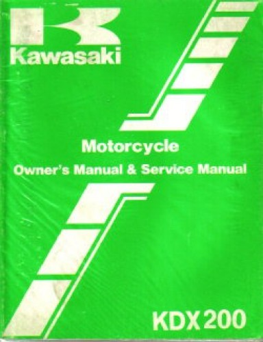 Used Official 1987 Kawasaki KDX200C2 Factory Owners and Service Manual