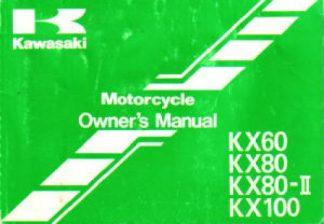 Used 1999 Kawasaki KX60 KX80 KX100 Owners Manual