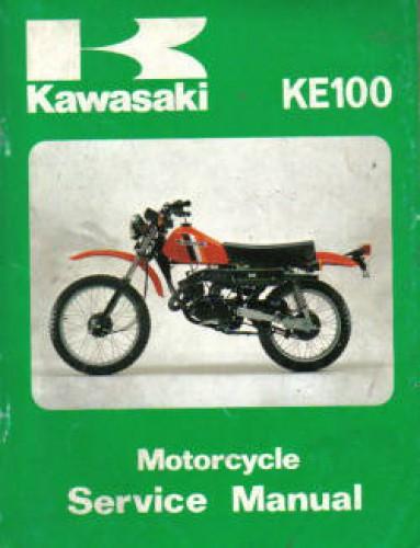 1979 1982 kawasaki ke100 motorcycle service manual. Black Bedroom Furniture Sets. Home Design Ideas