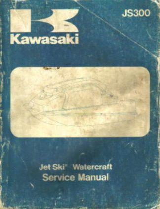 Used Official 1986 Kawasaki JS300 B1 Jet Ski Factory Service Manual