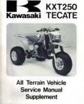Used 1986 Kawasaki KXT250B Service Manual Supplement