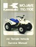 Used 1987 Kawasaki KLF110-B1 Mojave 110E and 1987 Kawasaki KLF110-A1 Mojave 110 Service Manual
