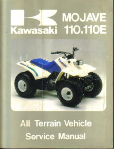 kawasaki klf110 mojave manual 1987 atv rh repairmanual com