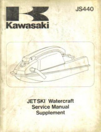Used Official 1984-1987 Kawasaki JS440 JET SKI Factory Service Manual Supplement