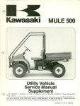 Used Official 1995-1996 Kawasaki KAF300B1 B2 Mule 500 Factory Service Manual Supplement