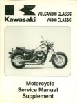 Used Official Kawasaki VN800B Vulcan Classic Factory Service Manual Supplement