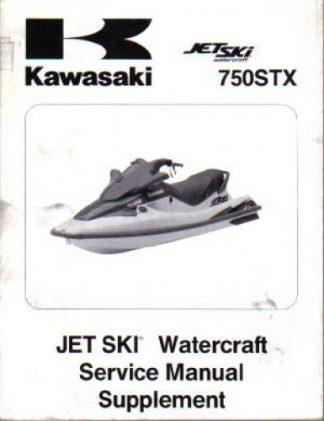 1998 Kawasaki JT750C1 JetSki 750STX Factory Service Manual Supplement