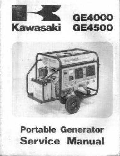 kawasaki ge4000 4500 portable generator service manual. Black Bedroom Furniture Sets. Home Design Ideas