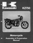 Used Official Kawasaki KZ750-E1 Motorcycle Assembly Preparation Manual