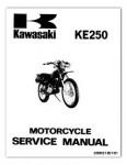 Used 1977-1979 Official Kawasaki KE250 Factory Service Manual