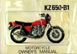 Used 1977 Kawasaki KZ650B1 Motorcycle Owners Manual