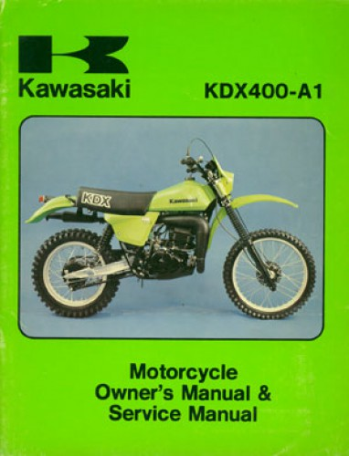 used official 1979 kawasaki kdx400 factory owners and service manual