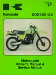 Used Official 1980 Kawasaki KDX400-A2 Factory Owners and Service Manual