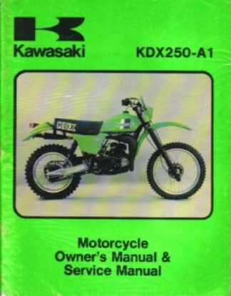 Used Official 1980 Kawasaki KDX250A1 Factory Owners Service Manual