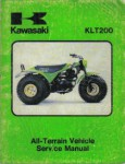 Used 1981 Kawasaki KLT200 ATC Three Wheeler Factory Service Manual
