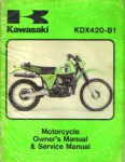 Used 1981 Kawasaki KDX420-B1Factory Service Manual