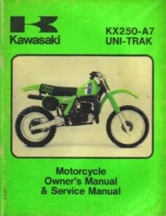 Kawasaki KX250-A7 Uni-Trax Factory Owners and Service Manual