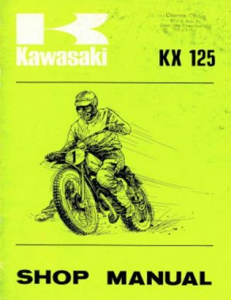 Used 1974 Kawasaki KX125A1 Service Manual