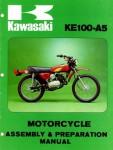 1976 Kawasaki KE100A5 Motorcycle Assembly P Service Manual