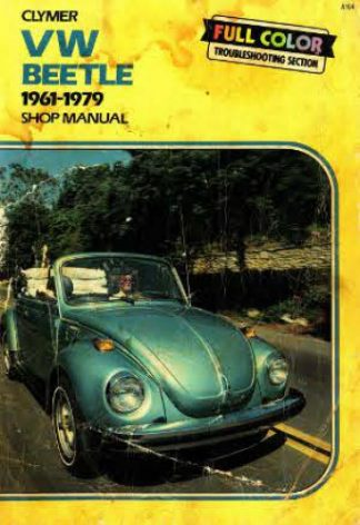 Used 1961-1979 VW Beetle Super Beetle Karmann Ghia Service Manual