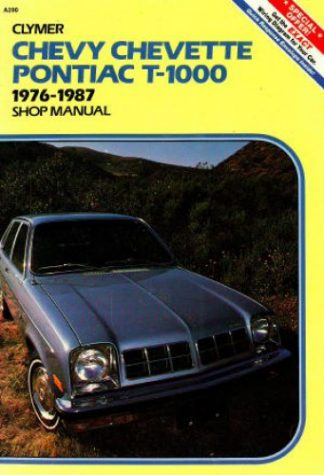 Used Clymer Chevy Chevette and Pontiac T-1000 Shop Manual 1976-1987