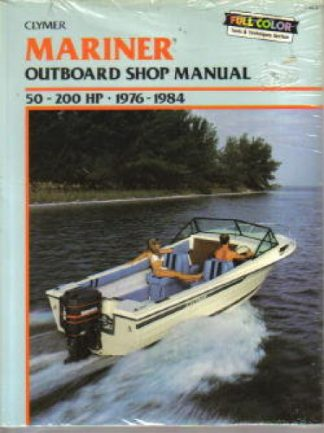 Used Clymer Mariner Outboards 50-200hp 1976-1984 Repair Manual
