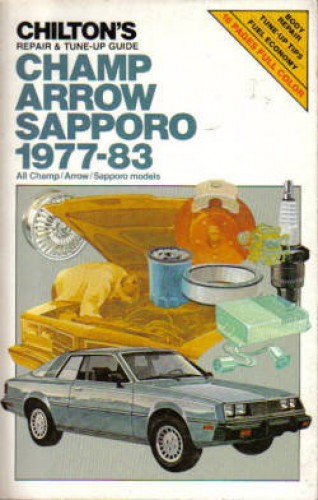 Used Chilton Plymouth Champ Arrow Shapporo 1977-1983 Auto Repair Manual