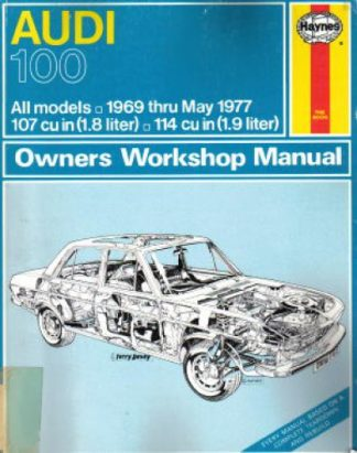 Audi 100 Repair Manual 1969-1977 Haynes Used