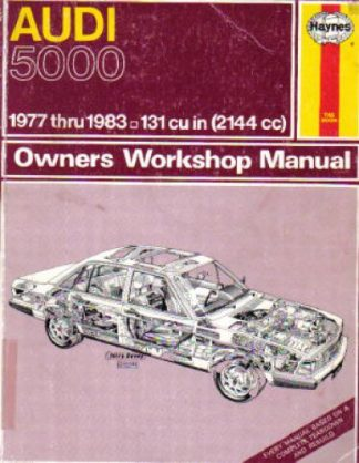 Haynes Audi 5000 Repair Manual 1977 Used