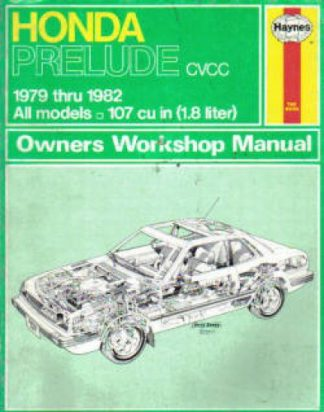 Used Haynes Honda Prelude 1979-1982 Auto Repair Manual